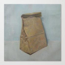 Schrödinger's bubble gum (brown paper bag) Canvas Print
