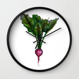 Rooted: The Radish Wall Clock