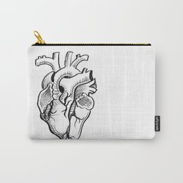Charcoal :: Anatomical Heart Sketch Carry-All Pouch