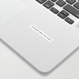 Masquerading Introvert Sticker