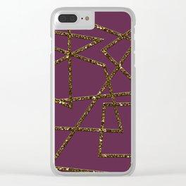 Progress (magenta) Clear iPhone Case