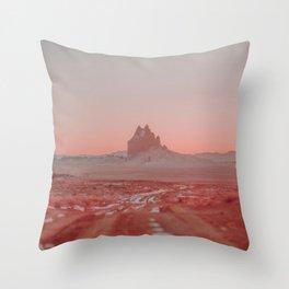 Shiprock / New Mexico Desert Throw Pillow