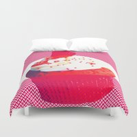 cupcake Duvet Covers featuring Cupcake by Mr and Mrs Quirynen