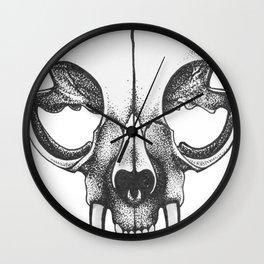 Rare Persian Smilodon Skull. Wall Clock