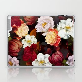 Vintage & Shabby Chic -Midnight Botanical Night Flower Garden  Laptop & iPad Skin