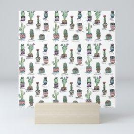 Cactus and Succulent Pattern Mini Art Print