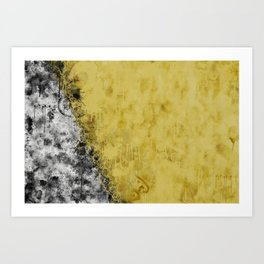 Golden Circles Art Print
