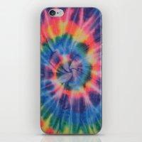 tie dye iPhone & iPod Skins featuring Tie Dye by Yael Tal