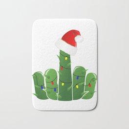 Fucktus | Christmas Cactus Flippin The Bird Bath Mat