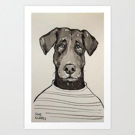 Larry the Labrador Art Print