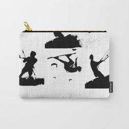 Wakeboarder Silhouette Collage Carry-All Pouch