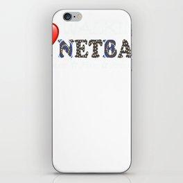 Love Walking Netball - theme Queensland Australia iPhone Skin