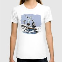 calvin hobbes T-shirts featuring Jon and Hobbes beyond the wall by BovaArt