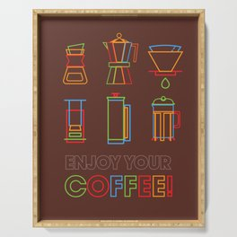 ENJOY YOUR COFFEE Serving Tray