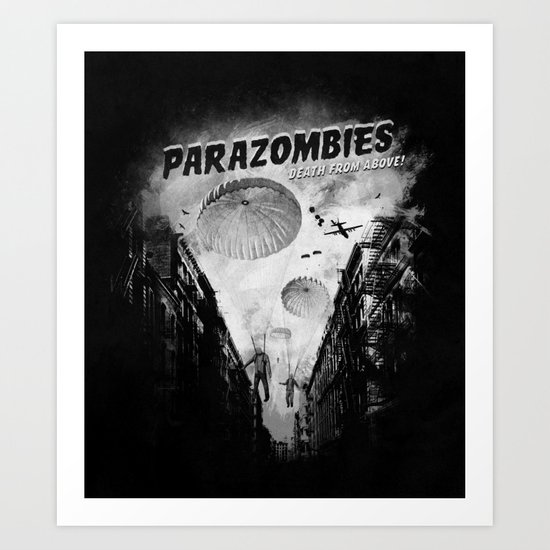 Parazombies Art Print