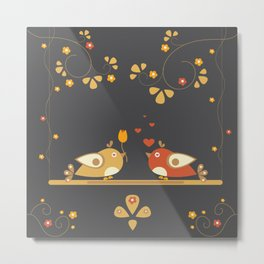 Love Bird Tree Metal Print