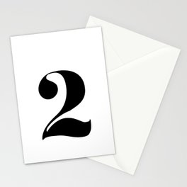 number 2 Stationery Cards