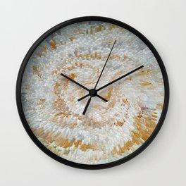 Abstract gold roses Wall Clock