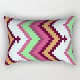 Colorful & Sexy Aztec Inspired Abstract Pattern Rectangular Pillow