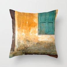Antique Chinese Wall - VIETNAM Throw Pillow