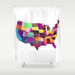 USA map art 1 #usa #map Shower Curtain