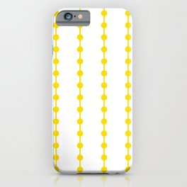 Geometric Droplets Pattern Linked - Summer Sunshine Yellow on White iPhone Case