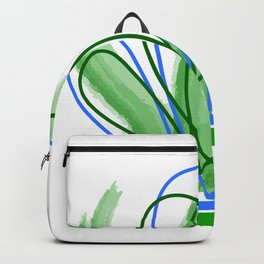 Abstract green geometric Backpack