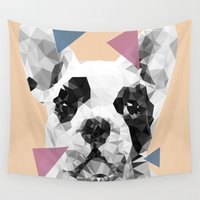 frenchie Wall Tapestries featuring Frenchie by Esco