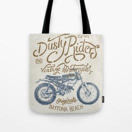Dusty Riders Vintage Motorcycles Tote Bag