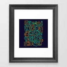 Tribal Animals Framed Art Print
