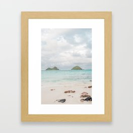 The Mokes at Lanikai Beach Framed Art Print