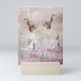 springtime sisters Mini Art Print