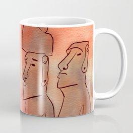 Moai statues watercolor Coffee Mug