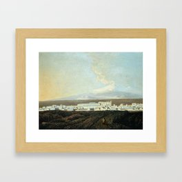 Joseph Wright of Derby 1734–1797   A View of Catania with Mount Etna in the Distance Framed Art Print