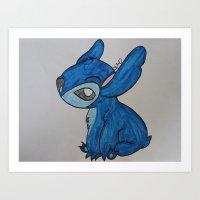 Stitch Art Print