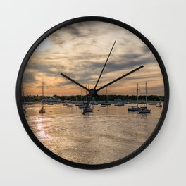 Hyannis sunset Wall Clock