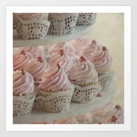 cupcakes Art Prints featuring Cupcakes by Mary Kilbreath