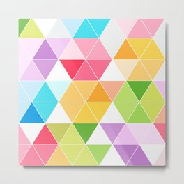 Colorful Triangle Mosaic Metal Print