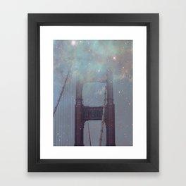 Starry San Francisco Framed Art Print