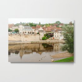 On the Banks of the Vézère River Metal Print