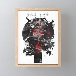 Uchiha Akatsuki Dark Monochrome Framed Mini Art Print