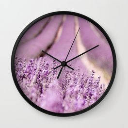 Lavender Happiness Wall Clock