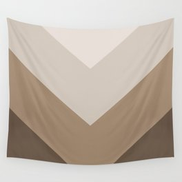 Brown Taupe Chevron Stripes Wall Tapestry