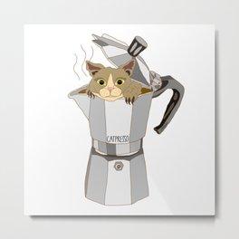 CATpresso Metal Print