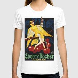 1922 Cherry Rocher Liquor Advertisement Poster by Paul Mohr T-shirt