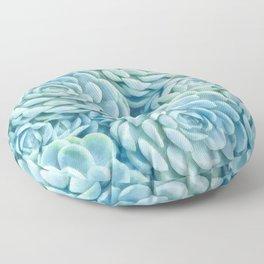Blue succulents II Floor Pillow