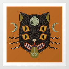 Spooky Cat Art Print
