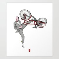 pee wee Art Prints featuring Pee Wee Herman #3 by Christian G. Marra