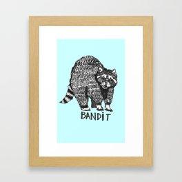 The Raccoon Bandit Framed Art Print