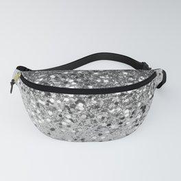 Soft Silver Gray Glitter #1 (Faux Glitter - Photography) #shiny #decor #art #society6 Fanny Pack